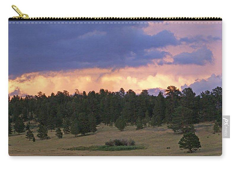 Estes Park Carry-all Pouch featuring the photograph Eagle Rock Estes Park by Heather Coen