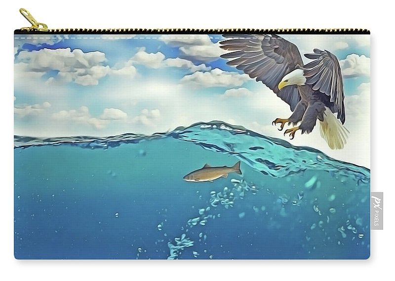 Eagle Carry-all Pouch featuring the painting Eaglenfish by Harry Warrick