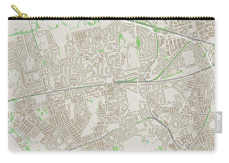 Street Map Of London Uk.Ealing London Uk City Street Map Carry All Pouch