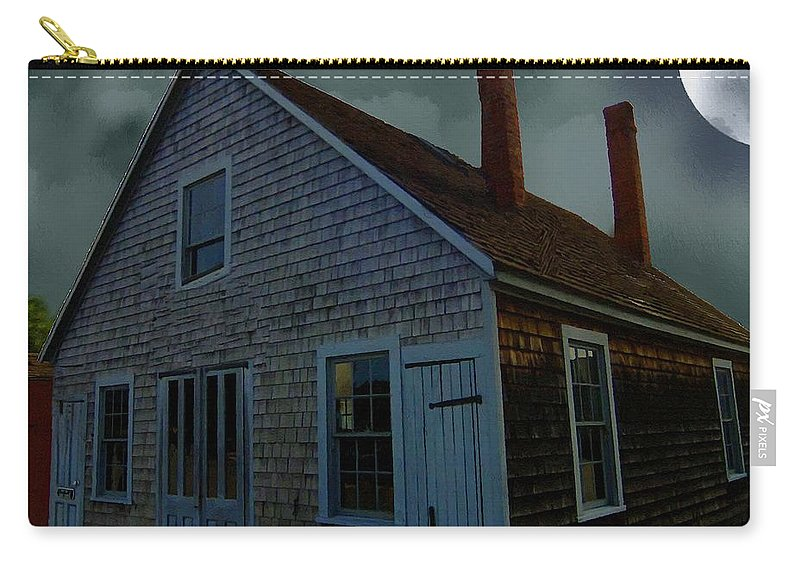 Autumn Carry-all Pouch featuring the painting Early American Moonlight by RC DeWinter