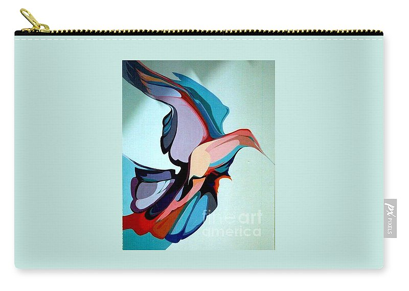 Birds Carry-all Pouch featuring the painting Early Bird 10 by Marlene Burns