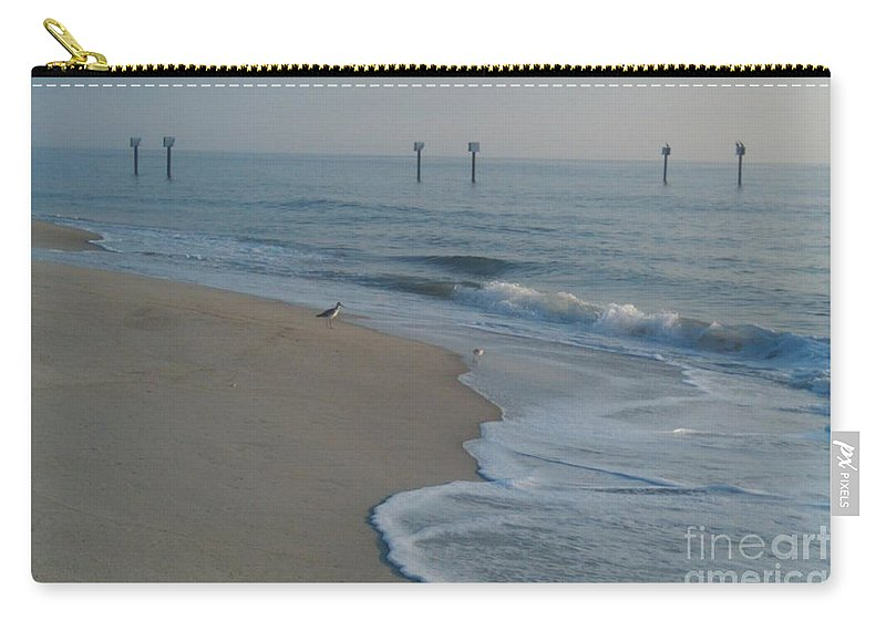 Morning Carry-all Pouch featuring the photograph Early Bird by Bev Veals