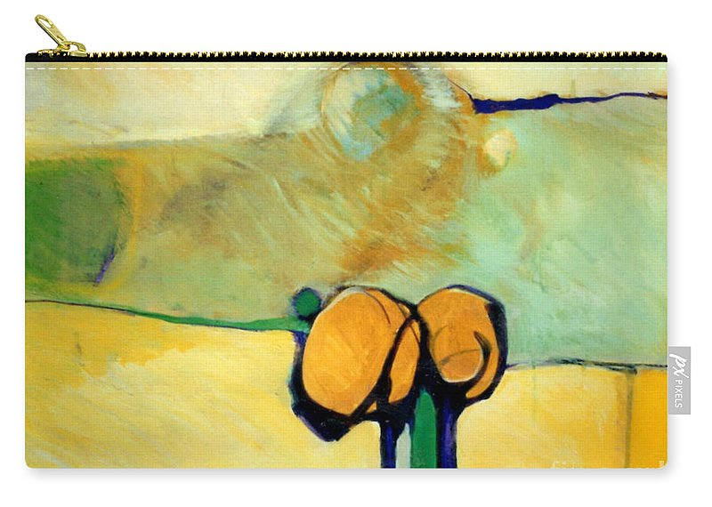 Abstract Carry-all Pouch featuring the painting Early Blob 2 Jump Rope by Marlene Burns