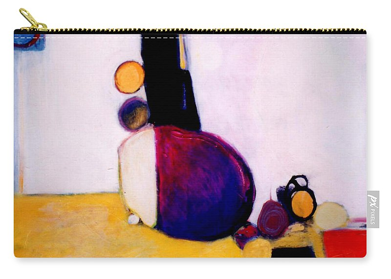 Abstract Carry-all Pouch featuring the painting Early Blob Having A Ball by Marlene Burns