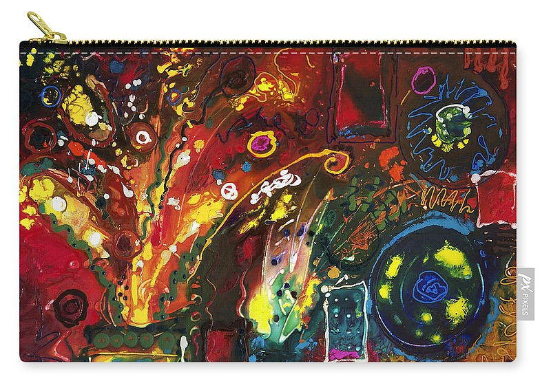 Floral Carry-all Pouch featuring the painting Early Bouquet by Sally Trace