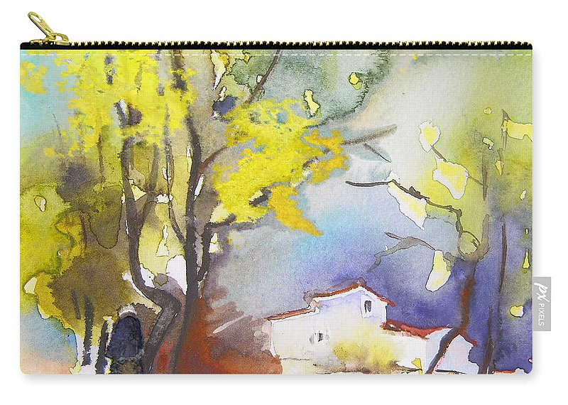 Watercolour Carry-all Pouch featuring the painting Early Morning 09 by Miki De Goodaboom