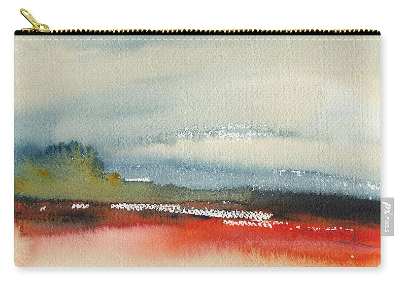Landscapes Carry-all Pouch featuring the painting Early Morning 23 by Miki De Goodaboom