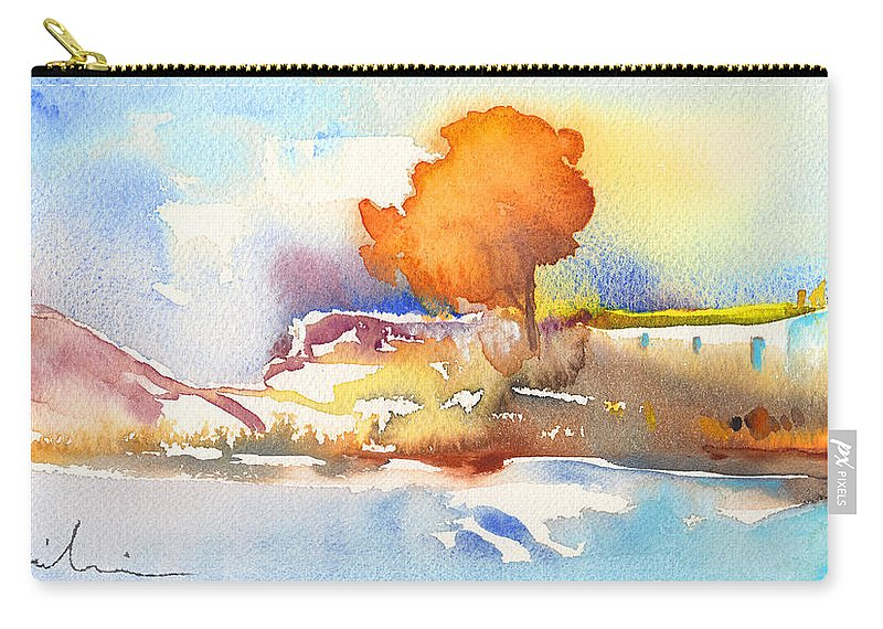 Landscapes Carry-all Pouch featuring the painting Early Morning 24 by Miki De Goodaboom