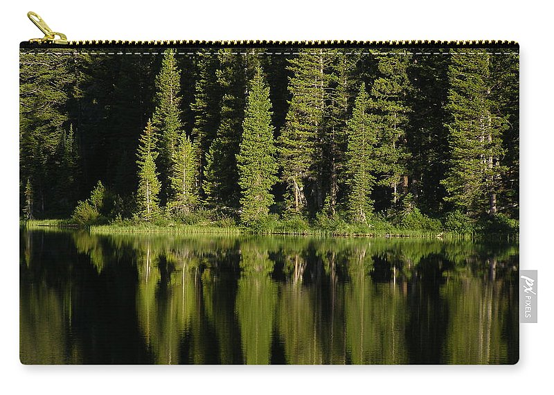 Lake Carry-all Pouch featuring the photograph Early Morning At Barstow by DeeLon Merritt