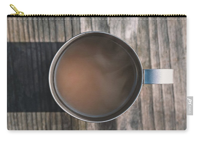 Coffee Carry-all Pouch featuring the photograph Early Morning Coffee by Scott Norris