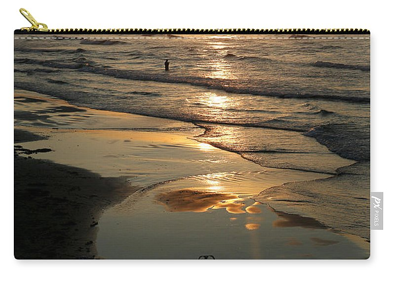Water Carry-all Pouch featuring the photograph Early Morning Fishing by Marilyn Hunt