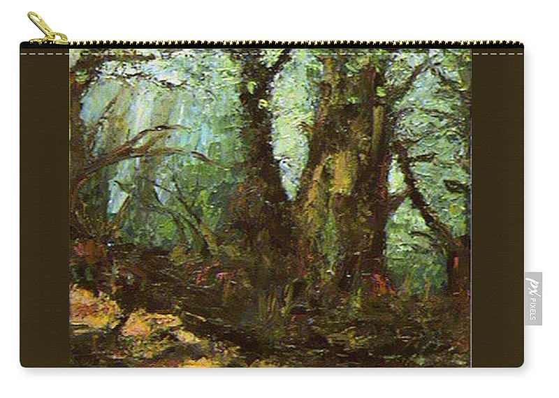 Landscape Carry-all Pouch featuring the painting Early Morning In The Forest by Ioulia Sotiriou
