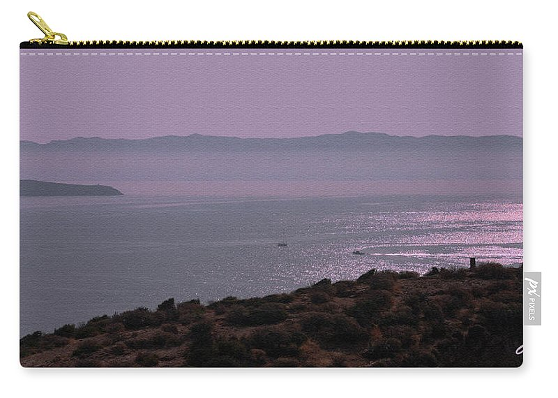 Greece Carry-all Pouch featuring the photograph Early Morning On Southern Greek Coast by Claudia O'Brien