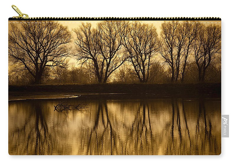 Boulder Carry-all Pouch featuring the photograph Early Morning Reflections by Marilyn Hunt