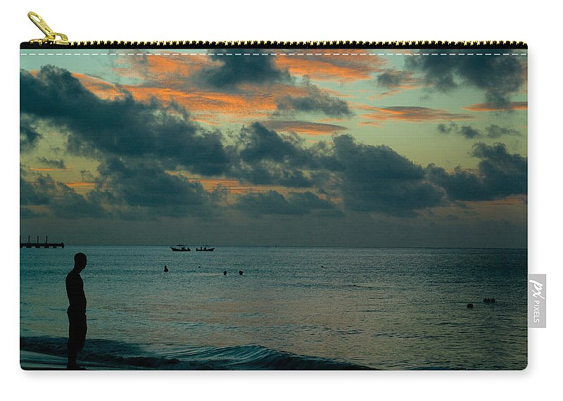 Sea Carry-all Pouch featuring the photograph Early Morning Sea by Douglas Barnett