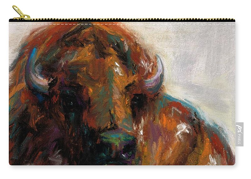 Buffalo Carry-all Pouch featuring the painting Early Morning Sunrise by Frances Marino