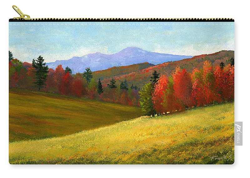 Landscape Carry-all Pouch featuring the painting Early October by Frank Wilson