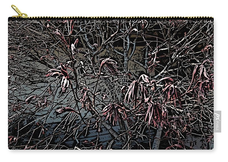 Digital Photography Carry-all Pouch featuring the digital art Early Spring Abstract by David Lane