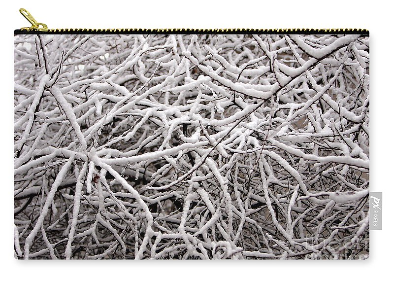 Abstract Carry-all Pouch featuring the photograph Early Spring Snow by James BO Insogna