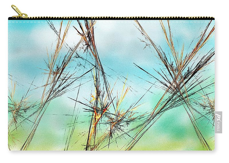 Digital Painting Carry-all Pouch featuring the digital art Early Spring Twigs by David Lane