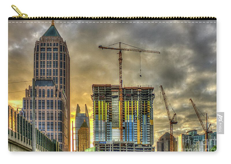 Reid Callaway Early Start Carry-all Pouch featuring the photograph Early Start Skyscraper Construction Atlanta Georgia Art by Reid Callaway