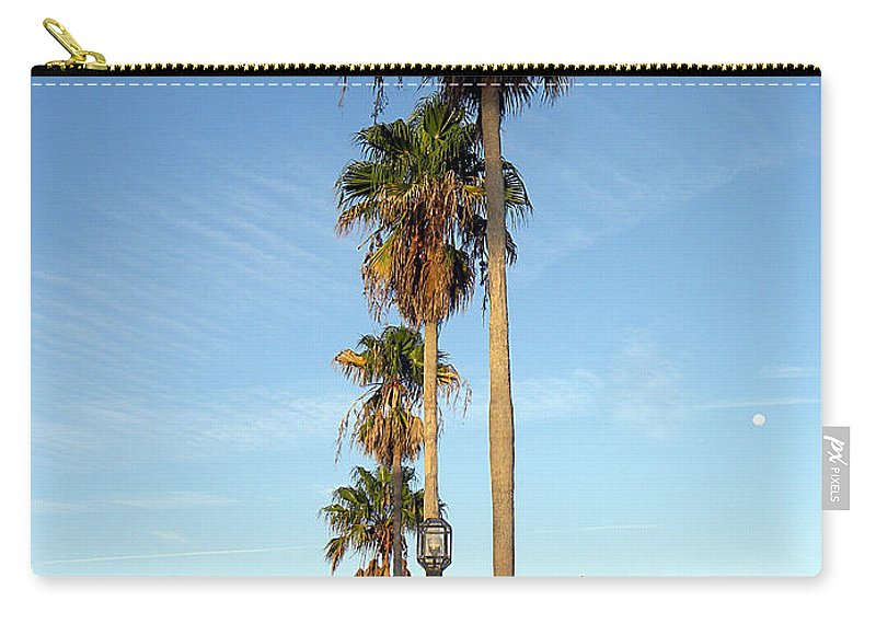 Daytona Carry-all Pouch featuring the photograph Early Sunday Morning In Daytona Beach by Chris Mercer