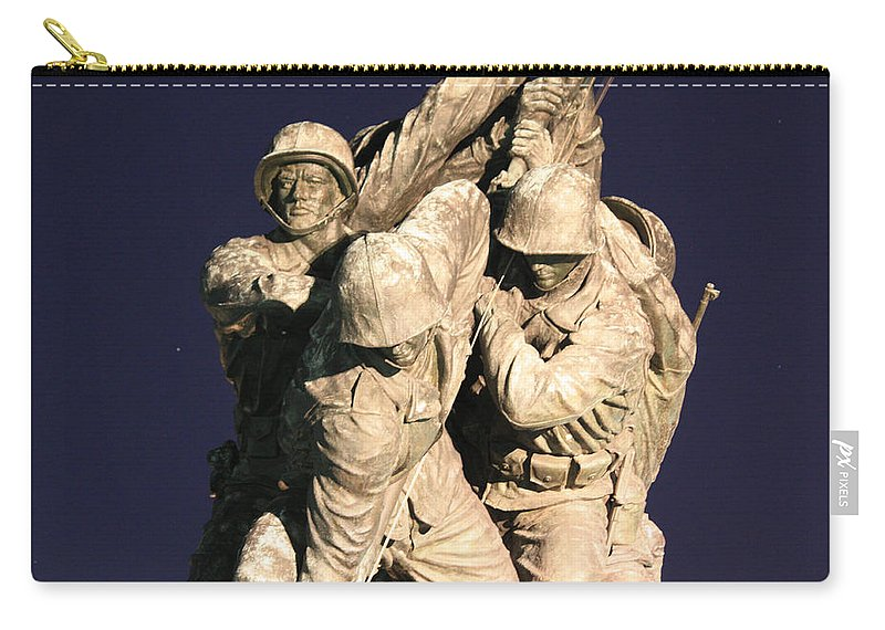 Early Carry-all Pouch featuring the photograph Early Washington Mornings - Team Iwo Jima by Ronald Reid
