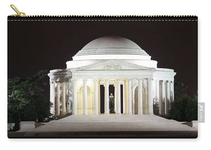 Early Carry-all Pouch featuring the photograph Early Washington Mornings - The Jefferson Memorial by Ronald Reid
