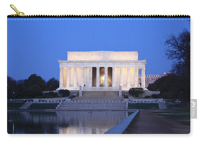 Early Carry-all Pouch featuring the photograph Early Washington Mornings - The Lincoln Memorial by Ronald Reid