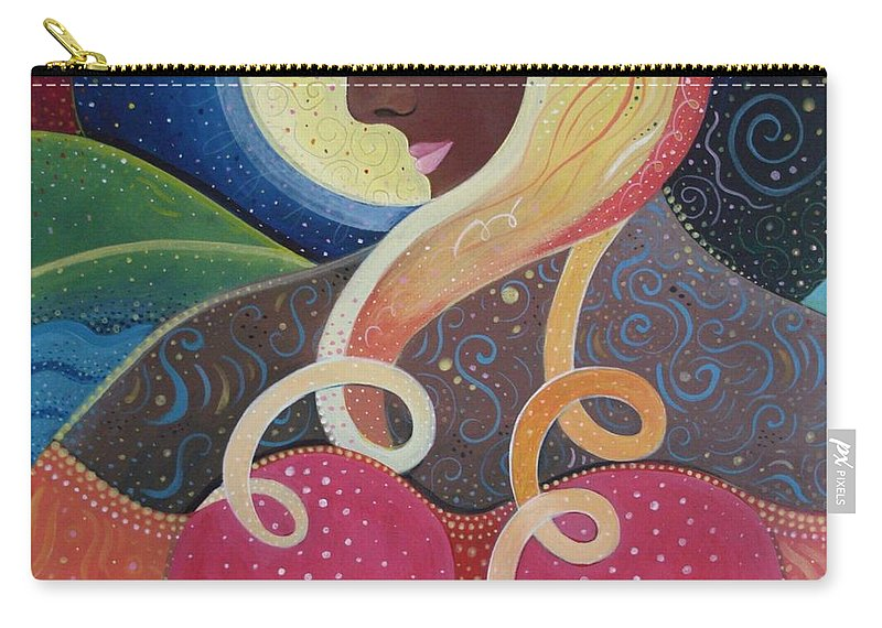 Angel Carry-all Pouch featuring the painting Earth Angel by Helena Tiainen