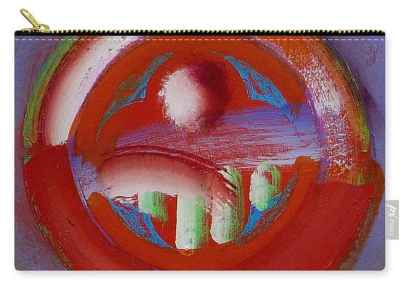 Love Carry-all Pouch featuring the painting Earth Button by Charles Stuart