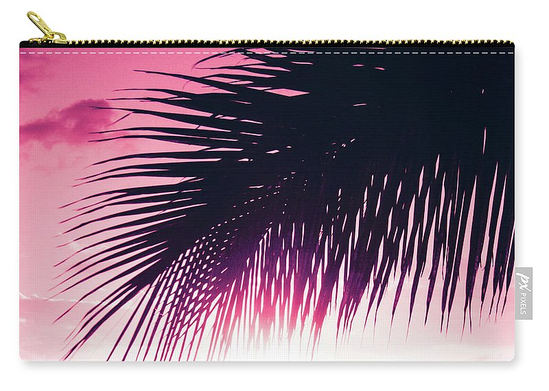 Pink Carry-all Pouch featuring the photograph Earth Heart Kahakai by Sharon Mau