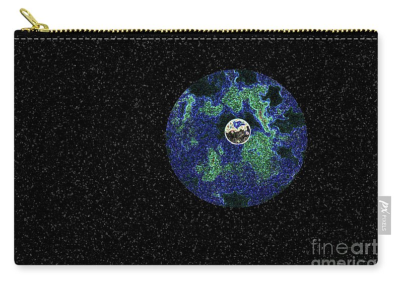 Moon Carry-all Pouch featuring the photograph Earth To The Moon by Andee Design