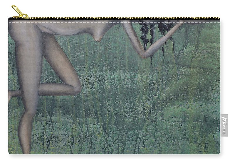 Earth Carry-all Pouch featuring the painting Earth Woman by Kelly Jade King