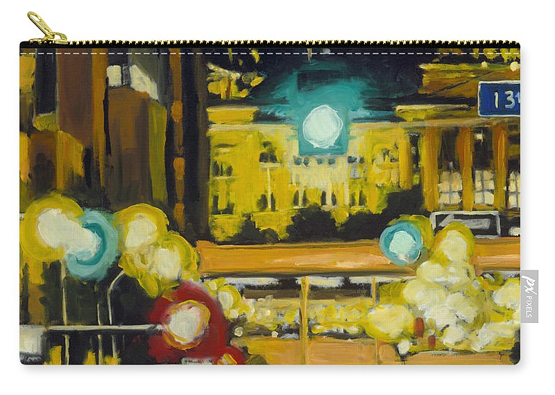 Iowa Carry-all Pouch featuring the painting East 13th and Locust st Des Moines by Robert Reeves