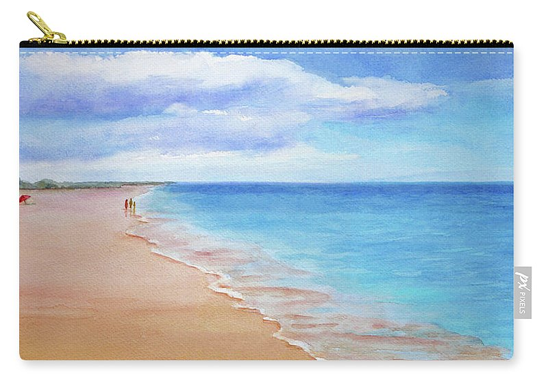 Beach Carry-all Pouch featuring the painting East Beach I by Janet Zeh