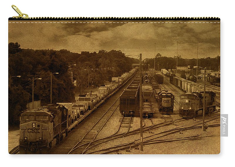 Csx Carry-all Pouch featuring the photograph East Bound by Mechala Matthews