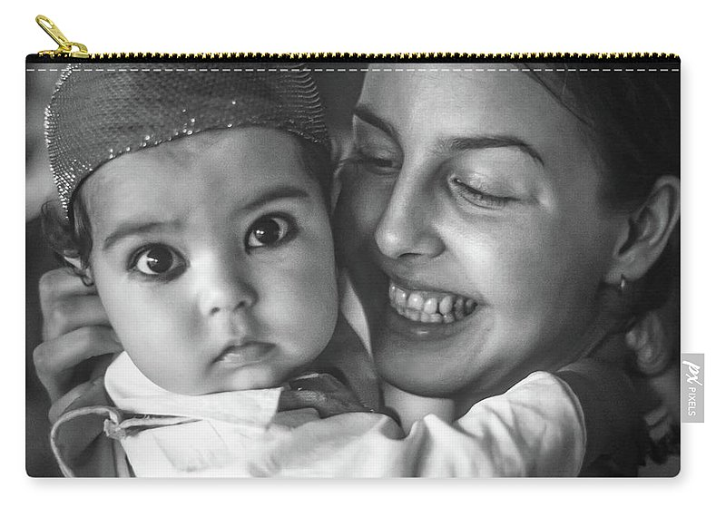 India Carry-all Pouch featuring the photograph East Meets West Monochrome by Steve Harrington