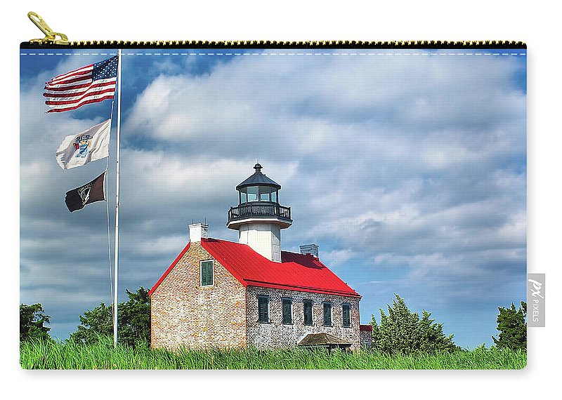 Bay Carry-all Pouch featuring the photograph East Point Lighthouse Nj by Nick Zelinsky