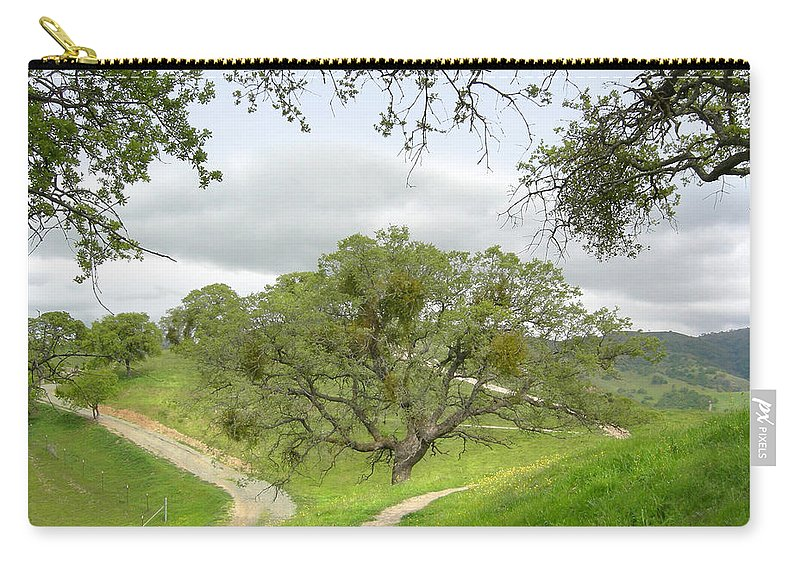 Landscape Carry-all Pouch featuring the photograph East Ridge Trail - Spring by Karen W Meyer
