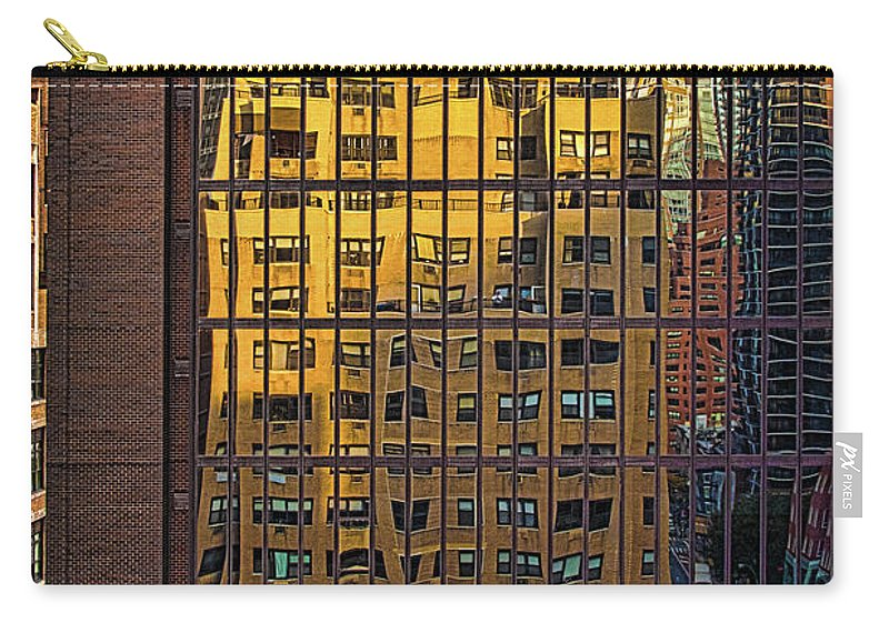 Window Carry-all Pouch featuring the photograph East Side Reflection by Chris Lord
