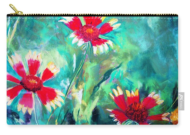 Flowers Carry-all Pouch featuring the painting East Texas Wild Flowers by Melinda Etzold