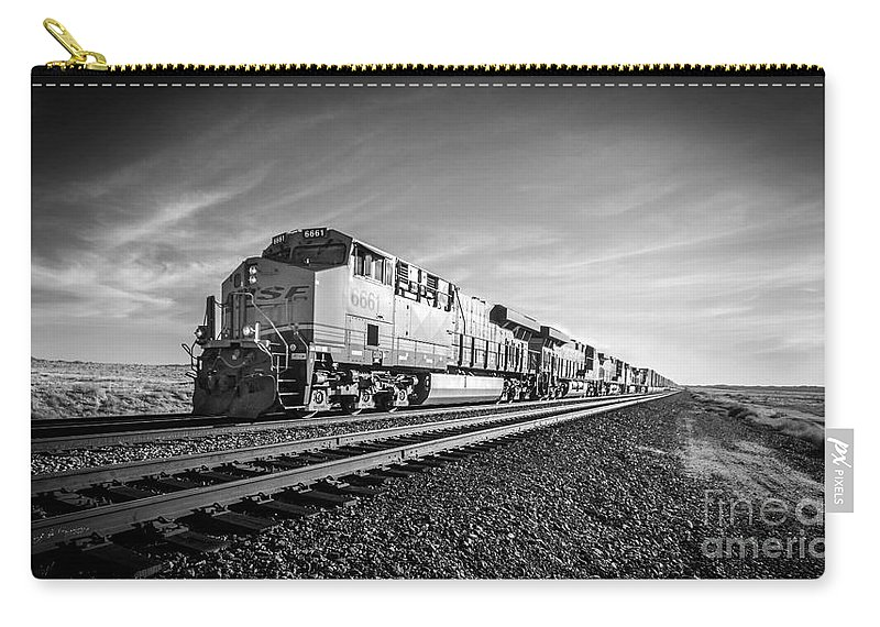 Bnsf Carry-all Pouch featuring the photograph Eastbound In Arizona by Rob Hawkins