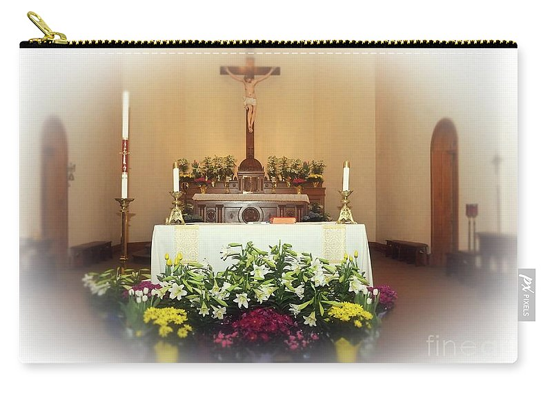 Easter Carry-all Pouch featuring the photograph Easter Alter by Kathleen Struckle