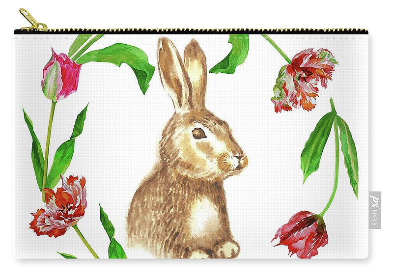 Easter Carry-all Pouch featuring the digital art Easter Background by Natalia Piacheva