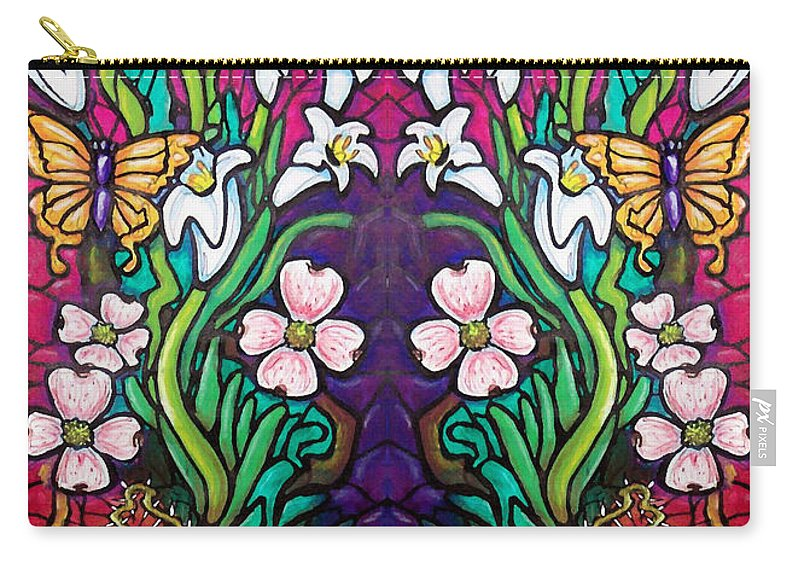 Easter Carry-all Pouch featuring the painting Easter Banner by Kevin Middleton