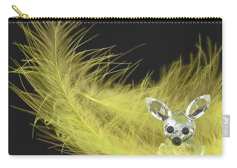 3d Carry-all Pouch featuring the photograph Easter Bunny by Svetlana Sewell