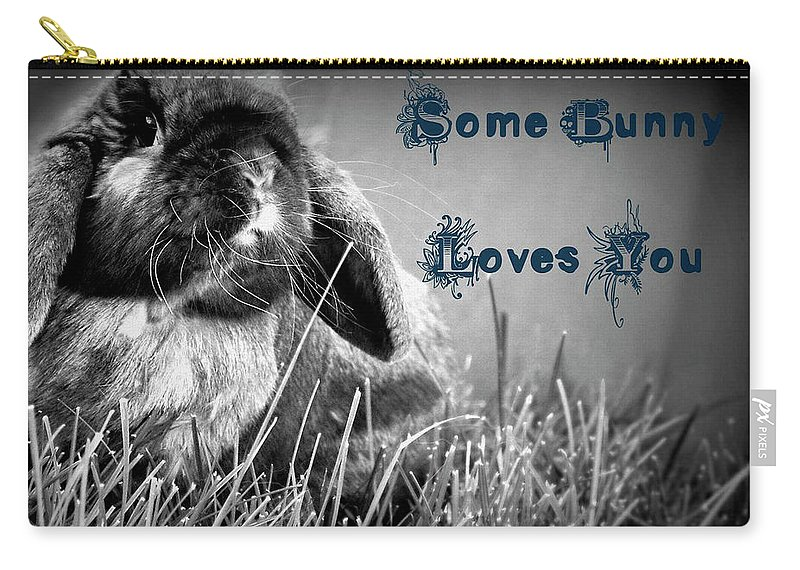 Some Bunny Loves You Carry-all Pouch featuring the photograph Easter Card by Lisa Knechtel