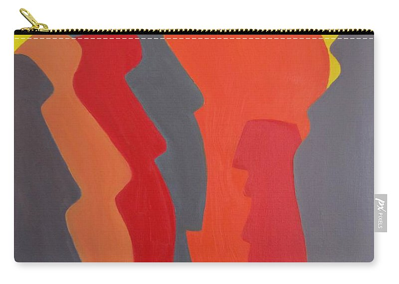 Easter Island. Michael Tmad Finney Carry-all Pouch featuring the painting Easter Island by Michael TMAD Finney AKA MTEE