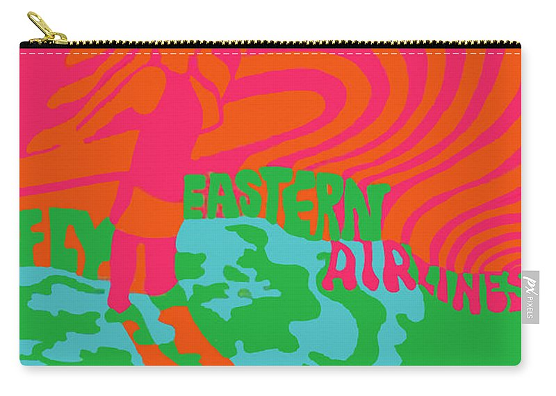 Eastern Carry-all Pouch featuring the photograph Eastern Airlines Surfer by Jost Houk